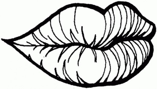 lips coloring page - lips coloring pages