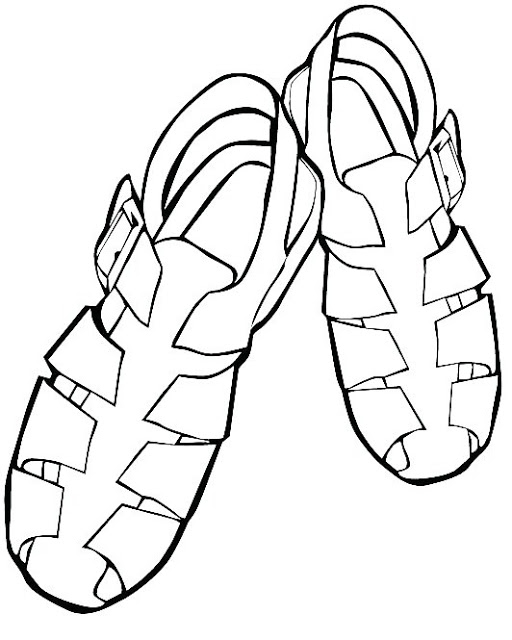 lips coloring page - sandal coloring pages