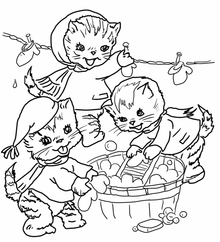 lisa frank coloring pages - kitten counting and colouring activity