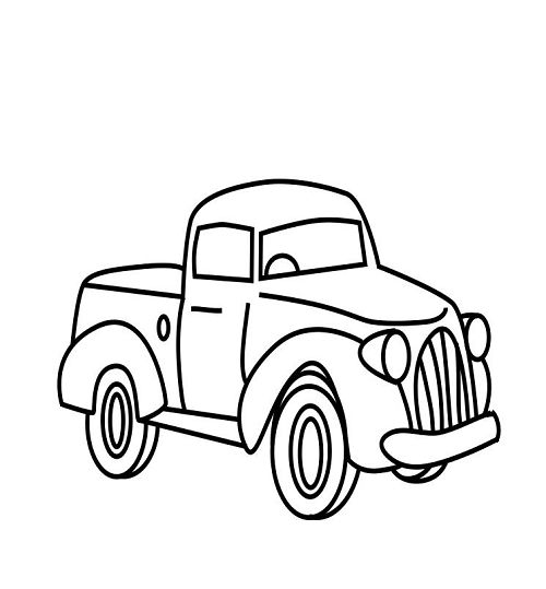 little blue truck coloring pages -
