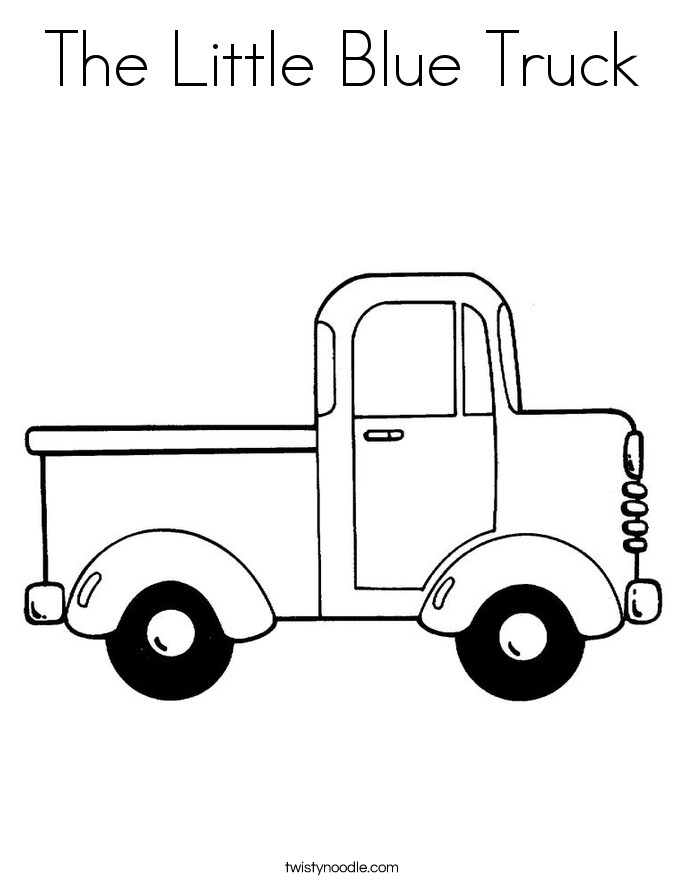 little blue truck coloring pages - the little blue truck 3 coloring page
