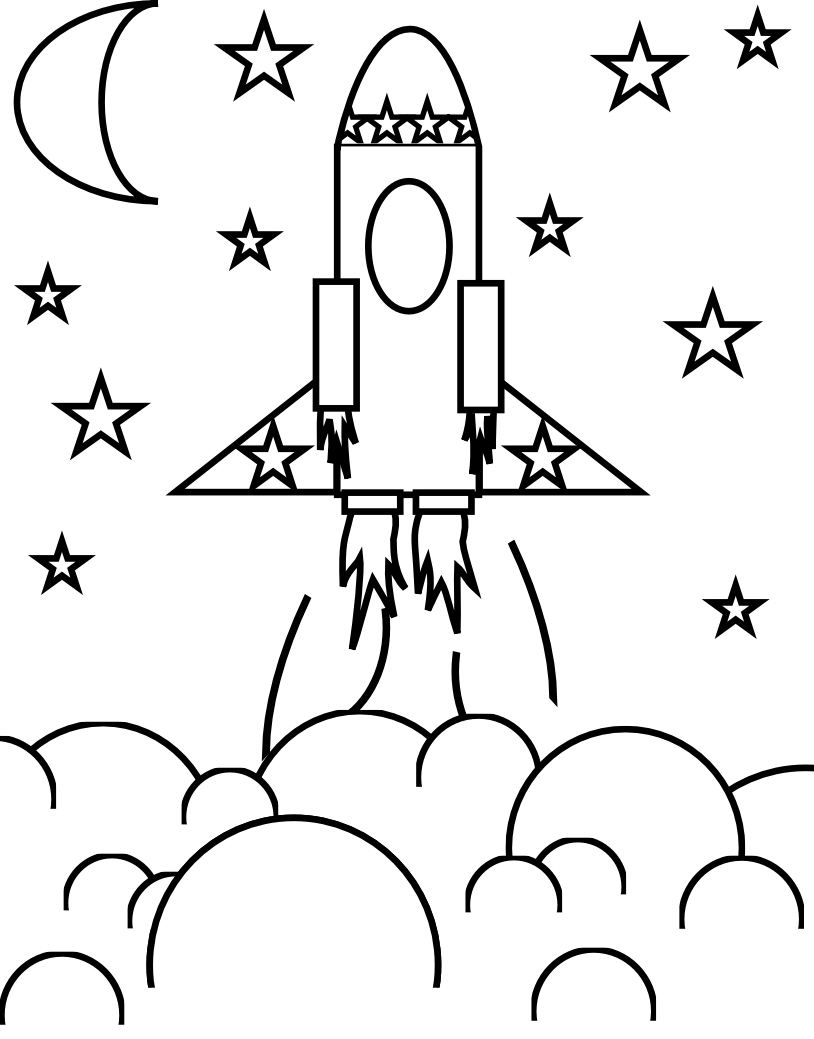 little boy coloring pages - flower craft and rocket ship coloring