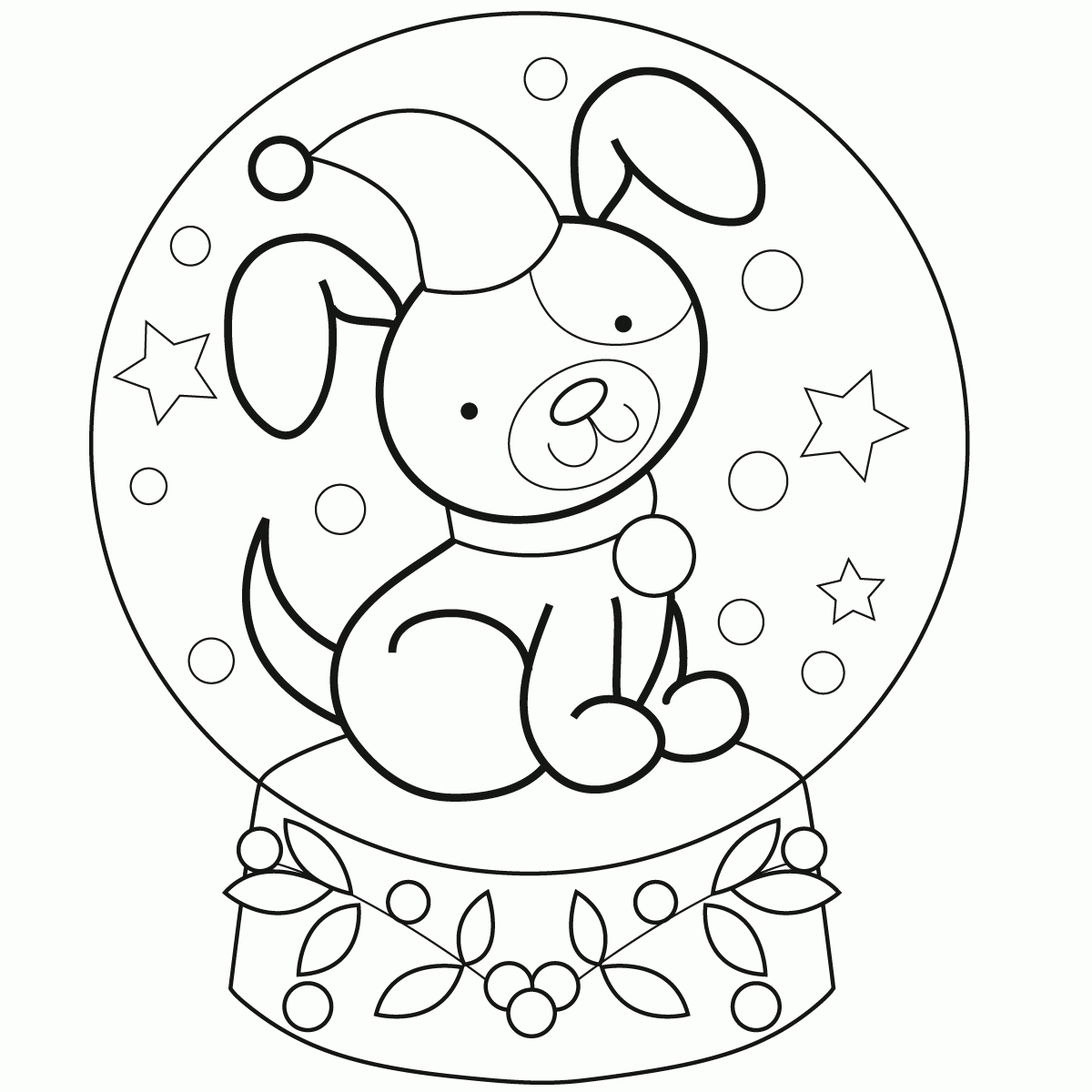 Little Boy Coloring Pages - Snow Globe Coloring Page Kids Coloring