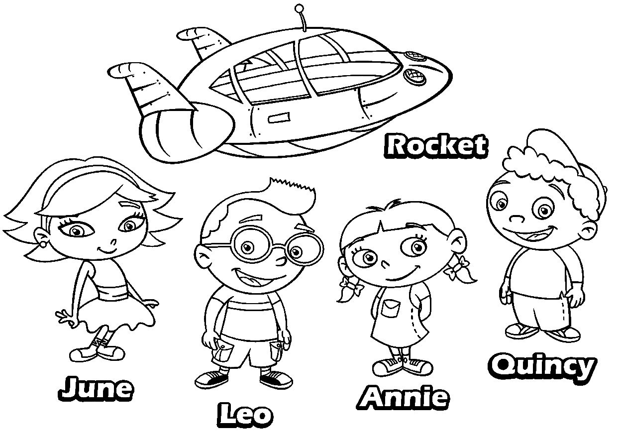Little Einsteins Coloring Pages - Printable Little Einsteins Coloring Pages Coloringsuite