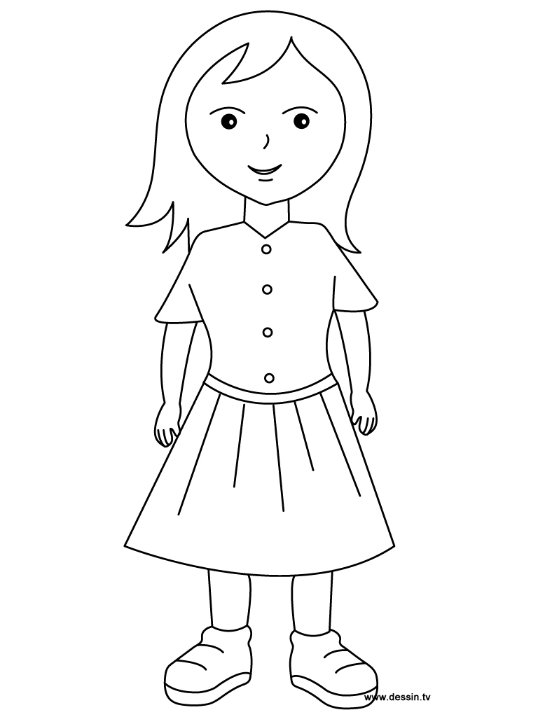 little girl coloring pages - coloring girl