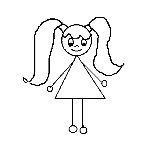 little girl coloring pages - little girl 12