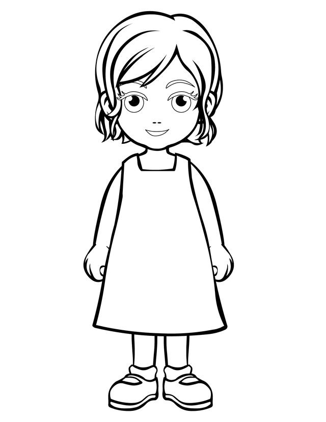 25 Little Girl Coloring Pages Pictures Free Coloring Pages
