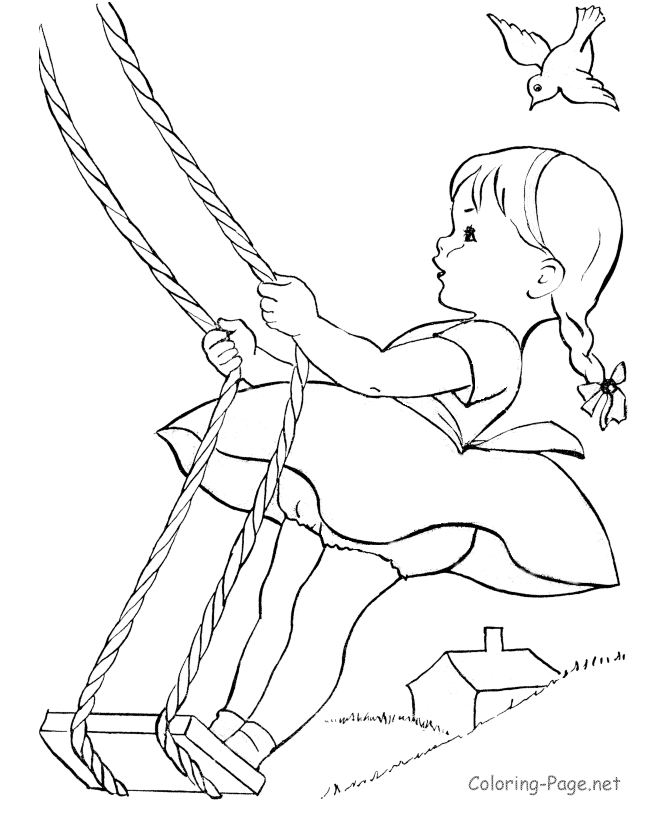 little girl coloring pages - summer 15