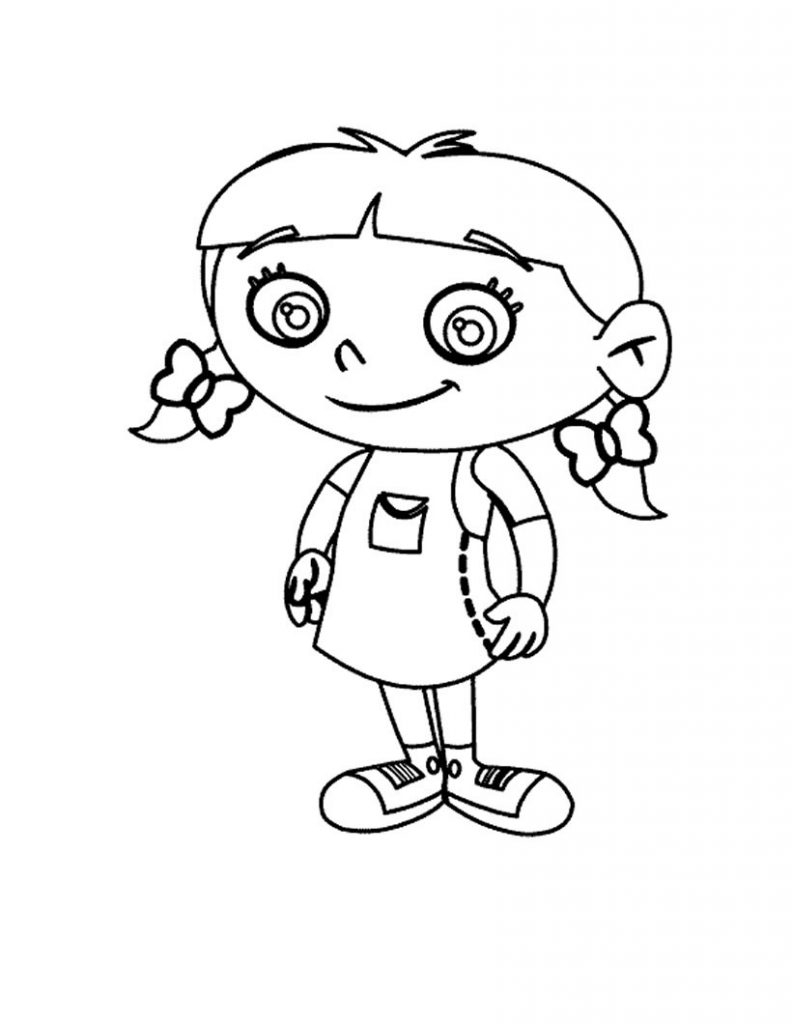 little kid coloring pages - little einsteins coloring pages