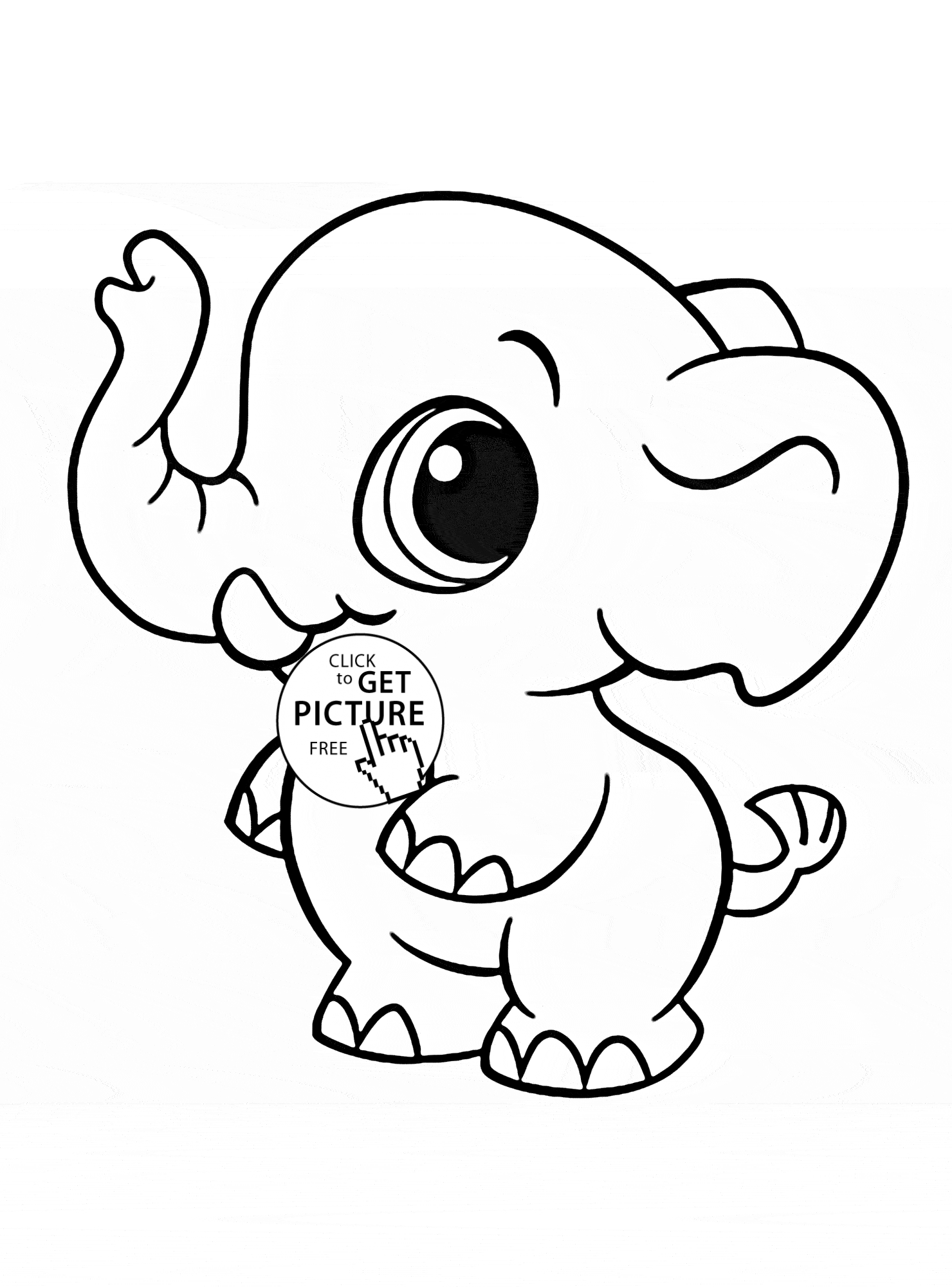 little kid coloring pages - little elephant animal coloring page for kids animal coloring pages printables free