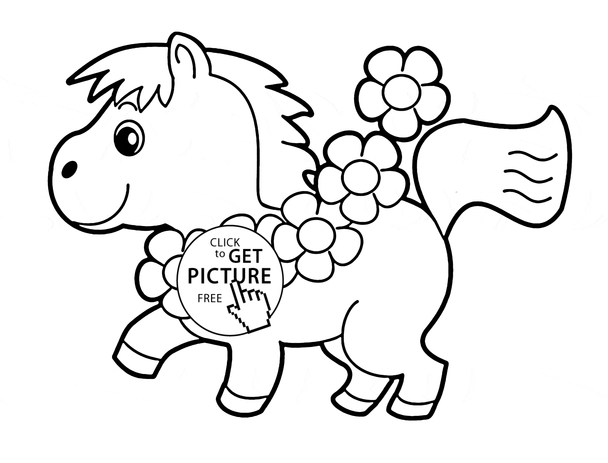 little kid coloring pages - little horse animal coloring page for kids animal coloring pages printables free