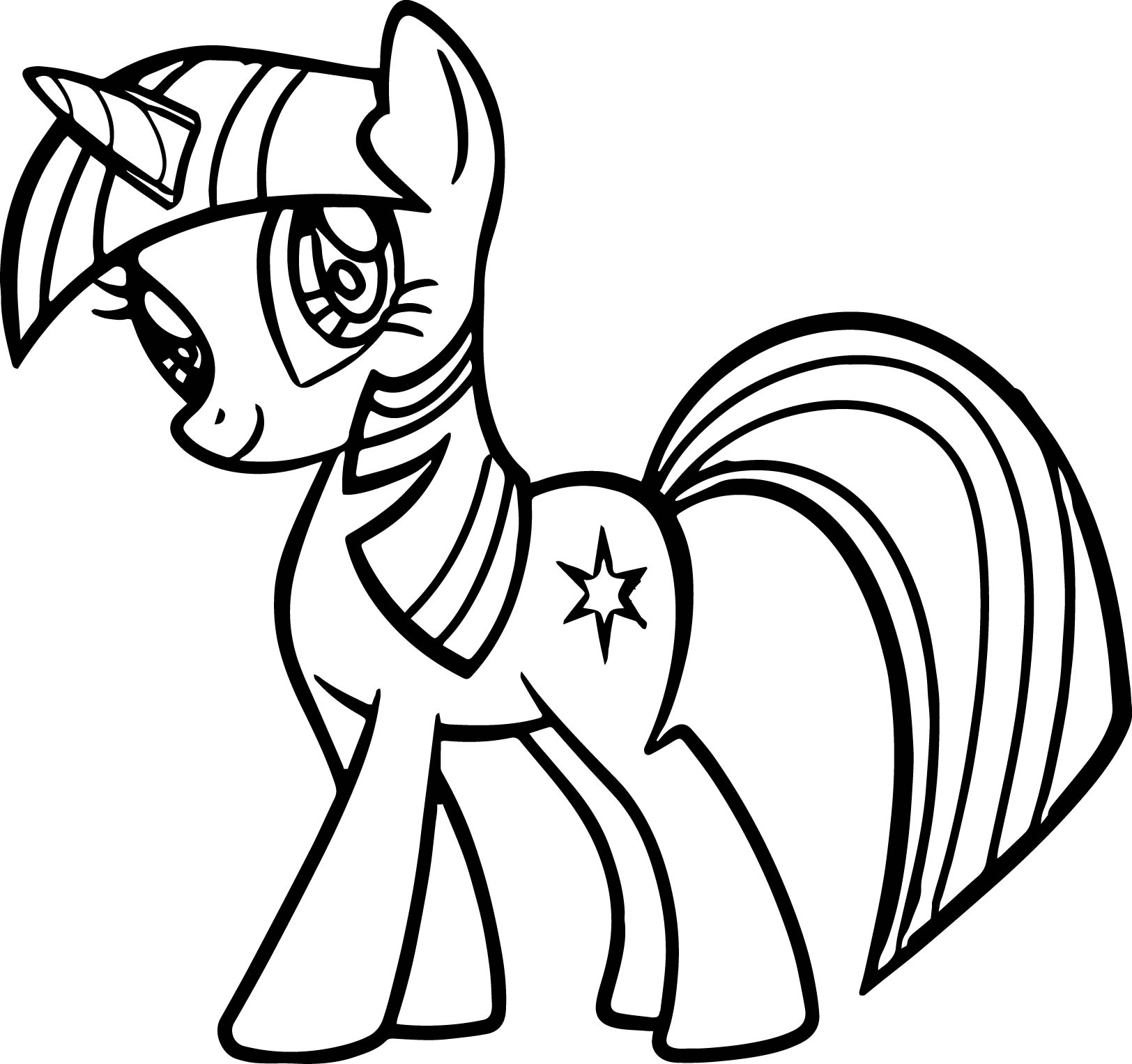 little pony coloring pages - cute little pony coloring page