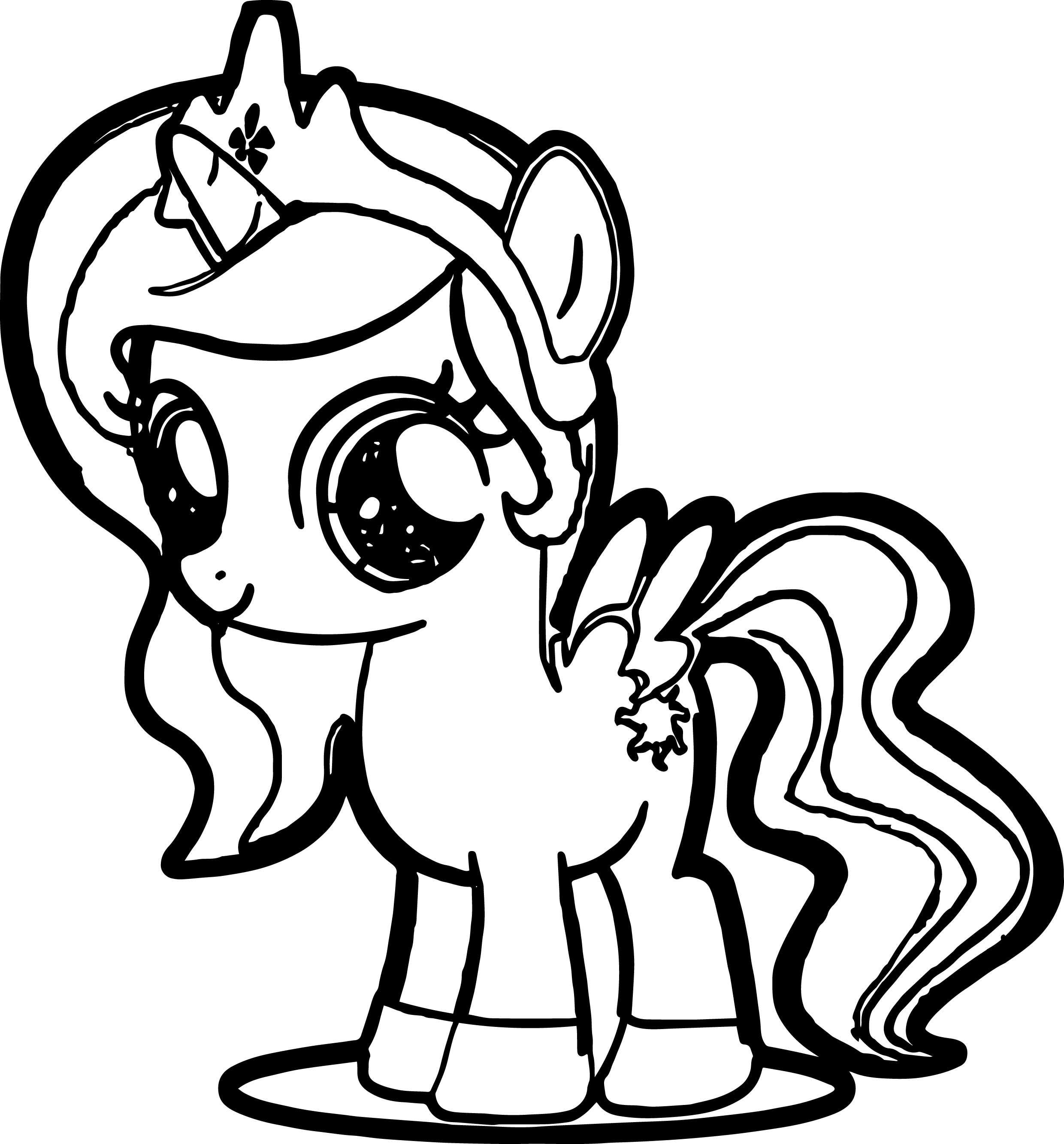 little pony coloring pages - cute pony coloring page