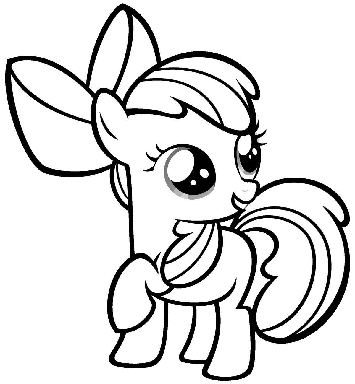 Little Pony Coloring Pages - Free Printable My Little Pony Coloring Pages for Kids