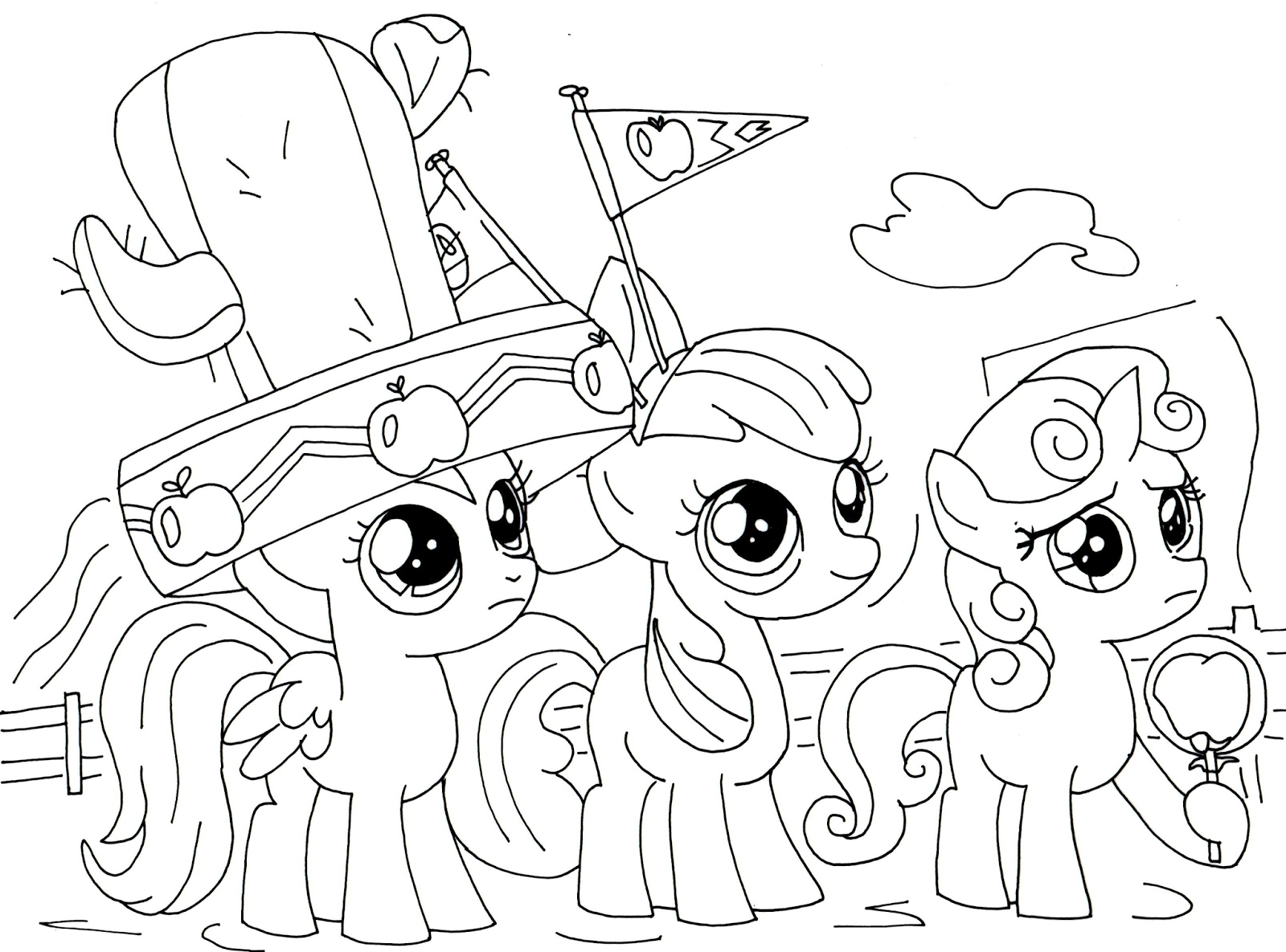 little pony coloring pages - free little pony coloring pages