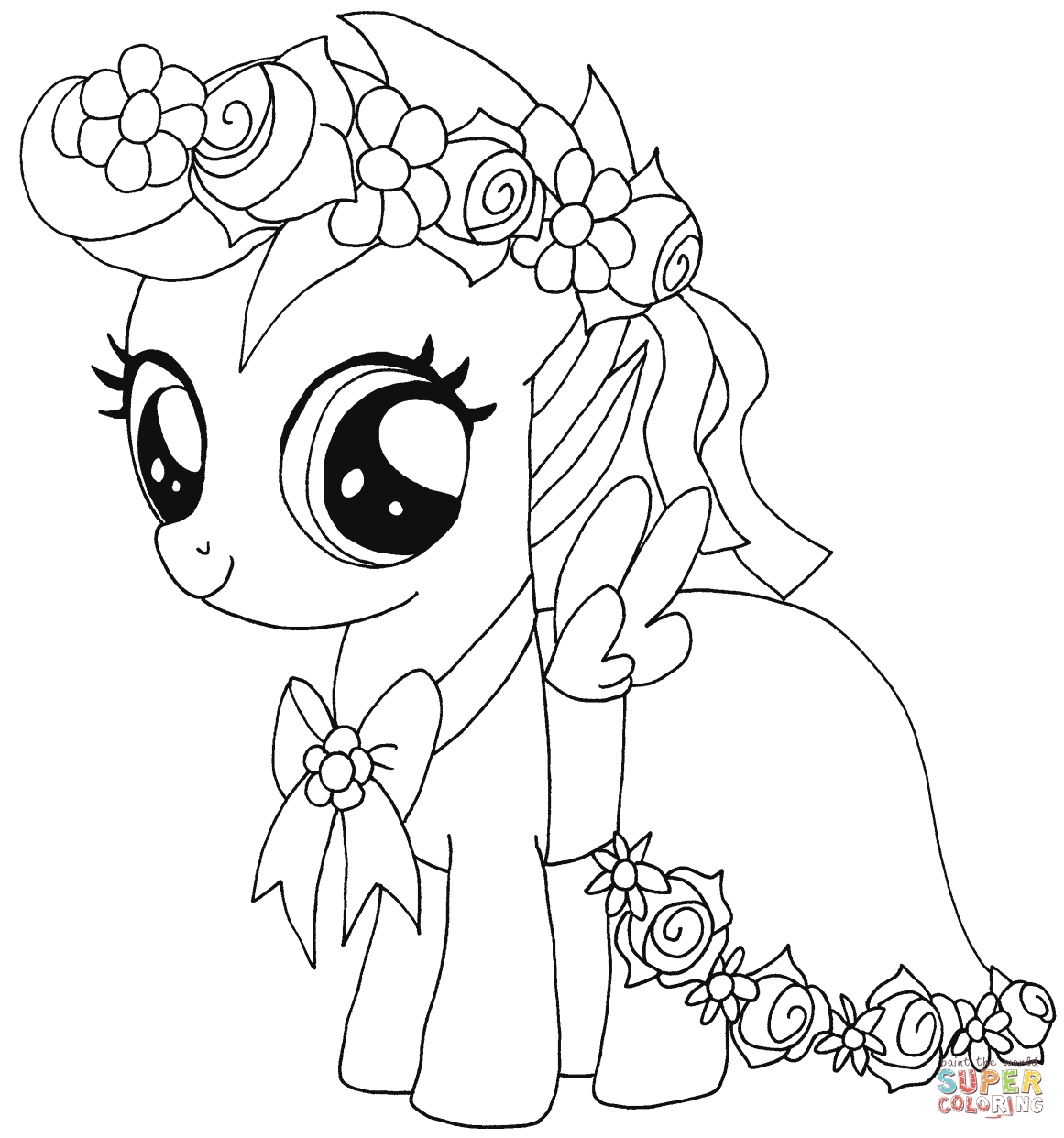 little pony coloring pages - my little pony scootaloo