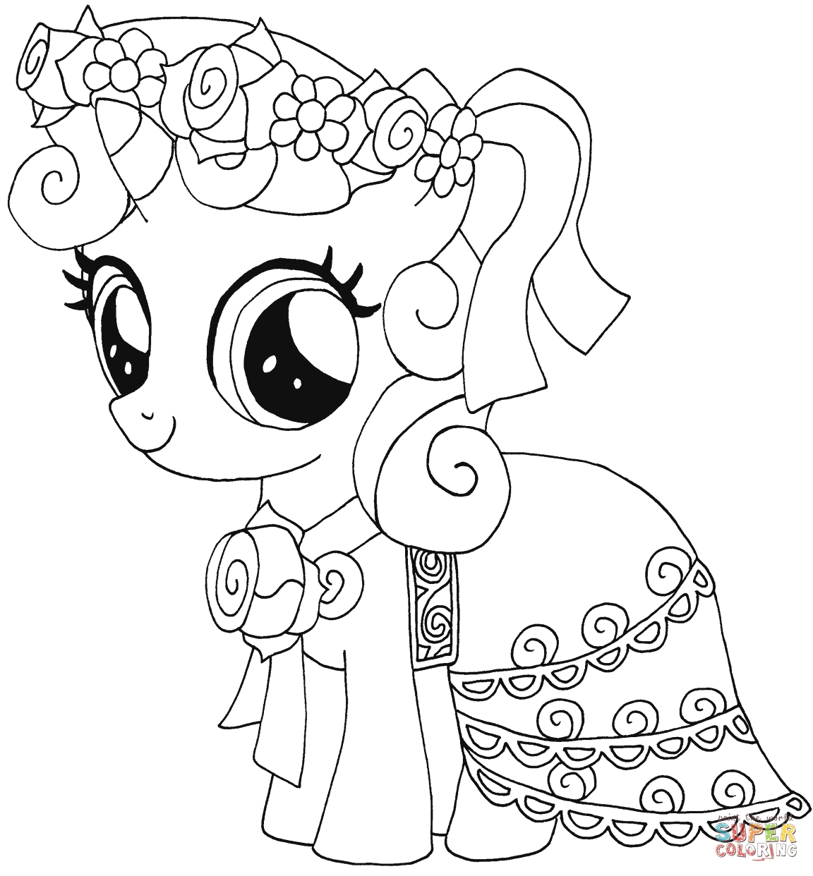 little pony coloring pages - my little pony sweetie belle