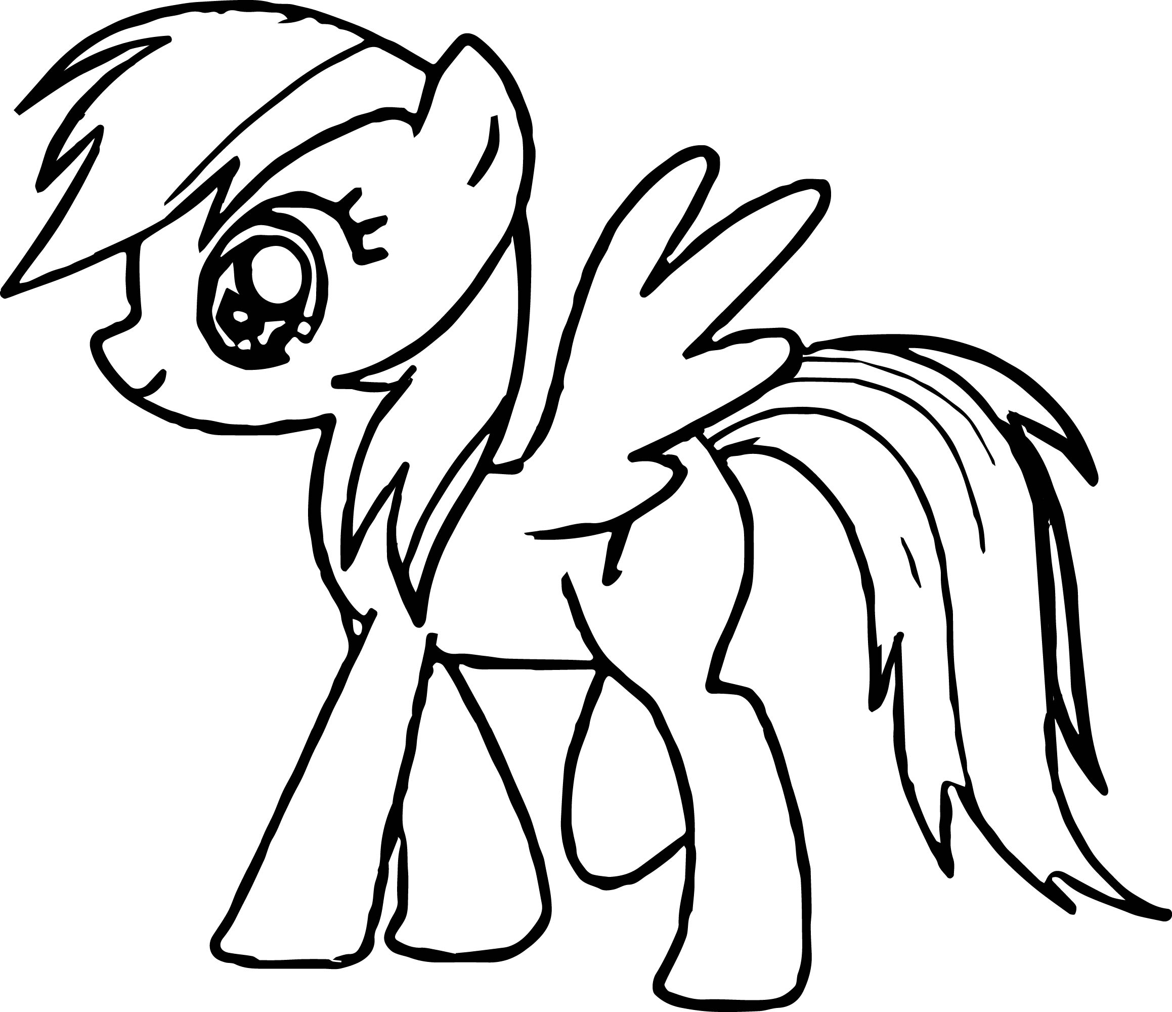 little pony coloring pages - walking little pony coloring page