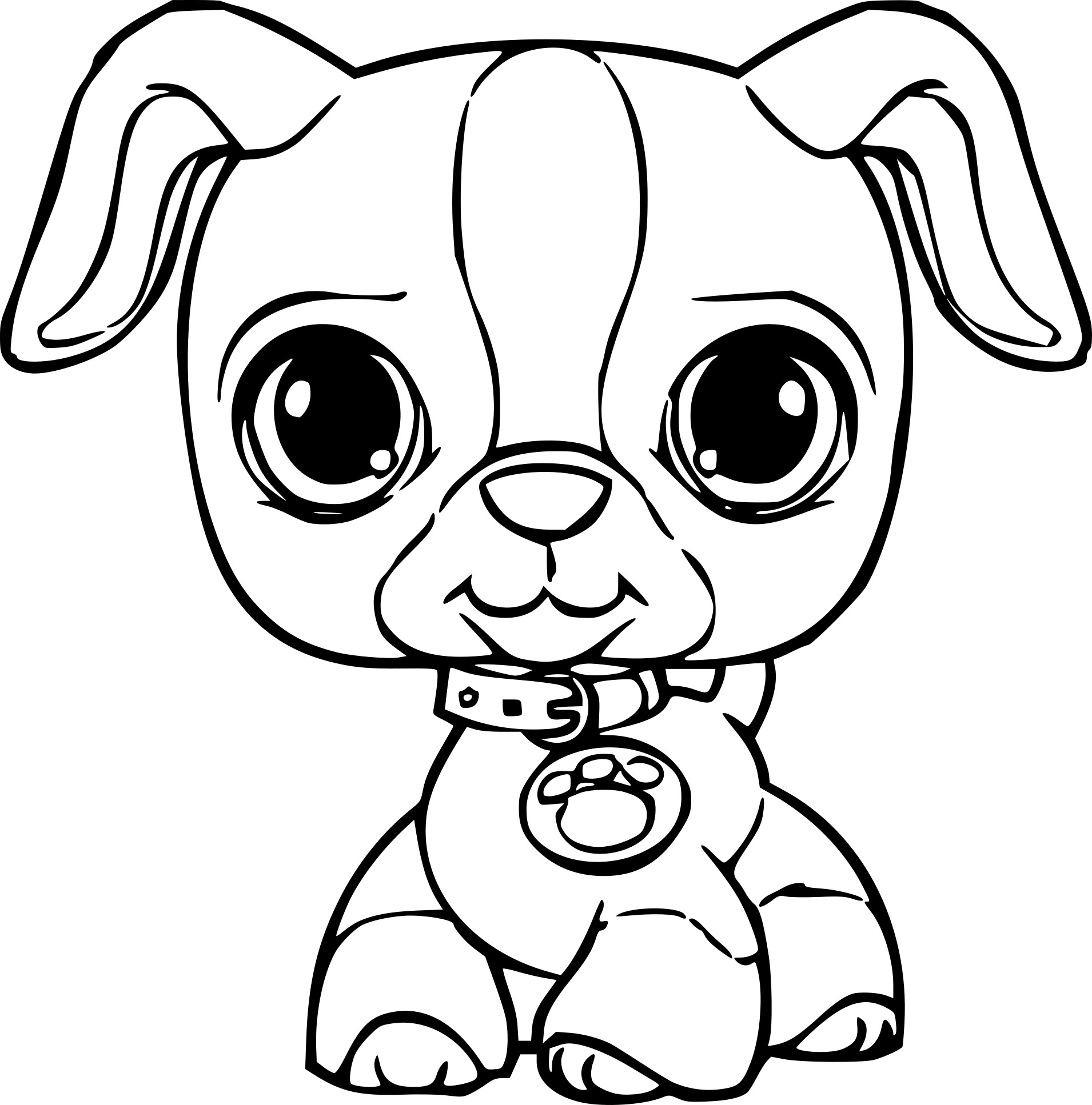 littlest pet shop coloring pages - chien petshop