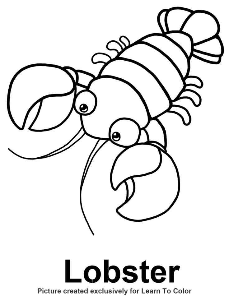 Lobster Coloring Page - Lobster Coloring Page Under the Sea