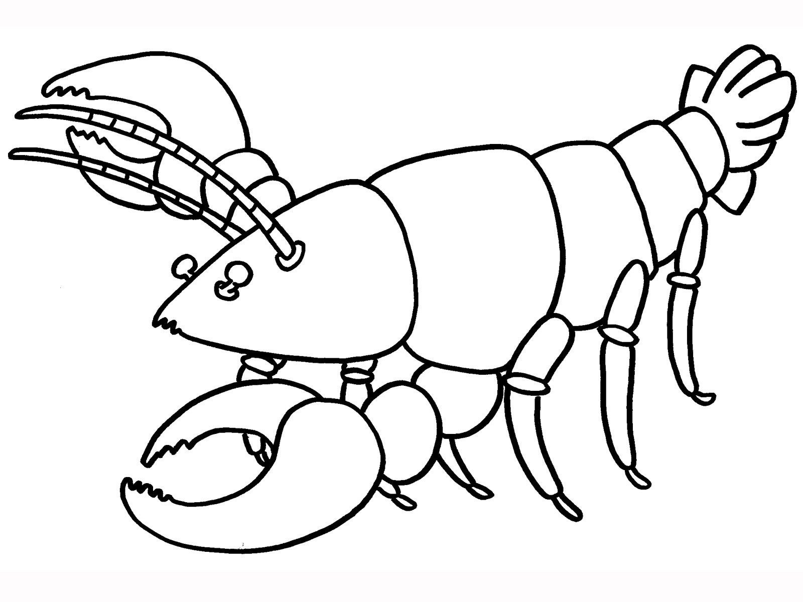 lobster coloring page - lobster