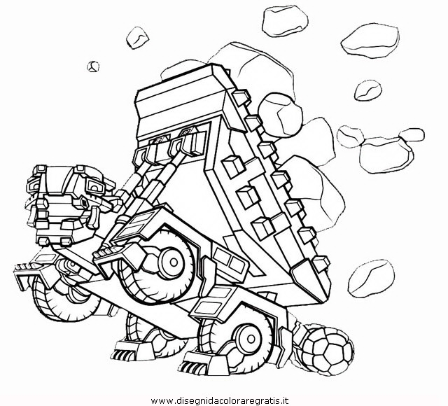 lol coloring pages - disegno dinotrux 3