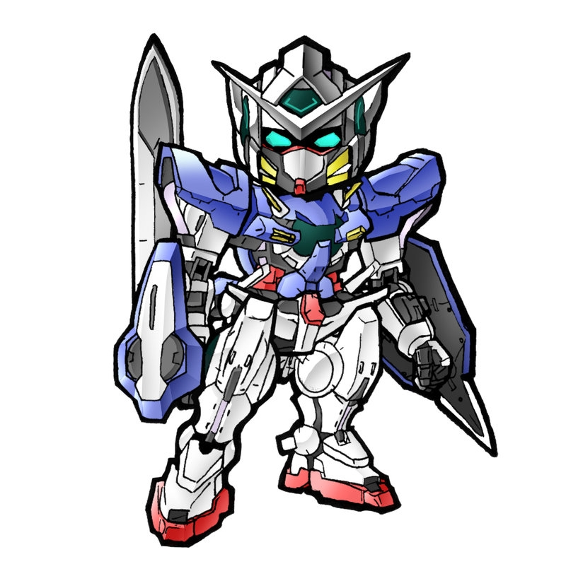 lol coloring pages - SD Gundam Exia