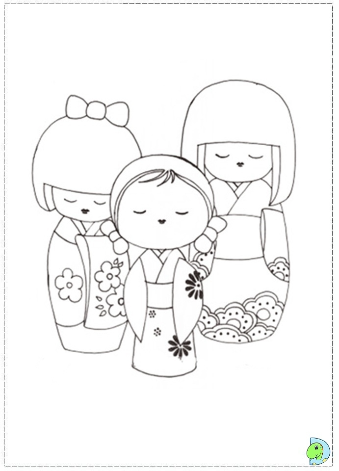 lol doll coloring pages - 005 coloringDolls kokeshi 01