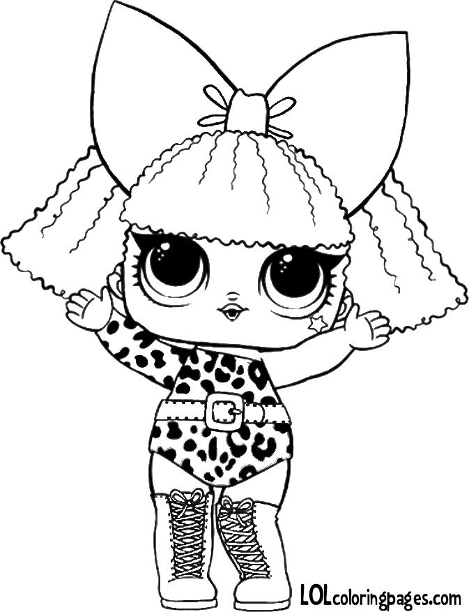 Lol Dolls Coloring Pages - Lol Surprise Doll – Diva – Lol Surprise Doll Coloring Pages