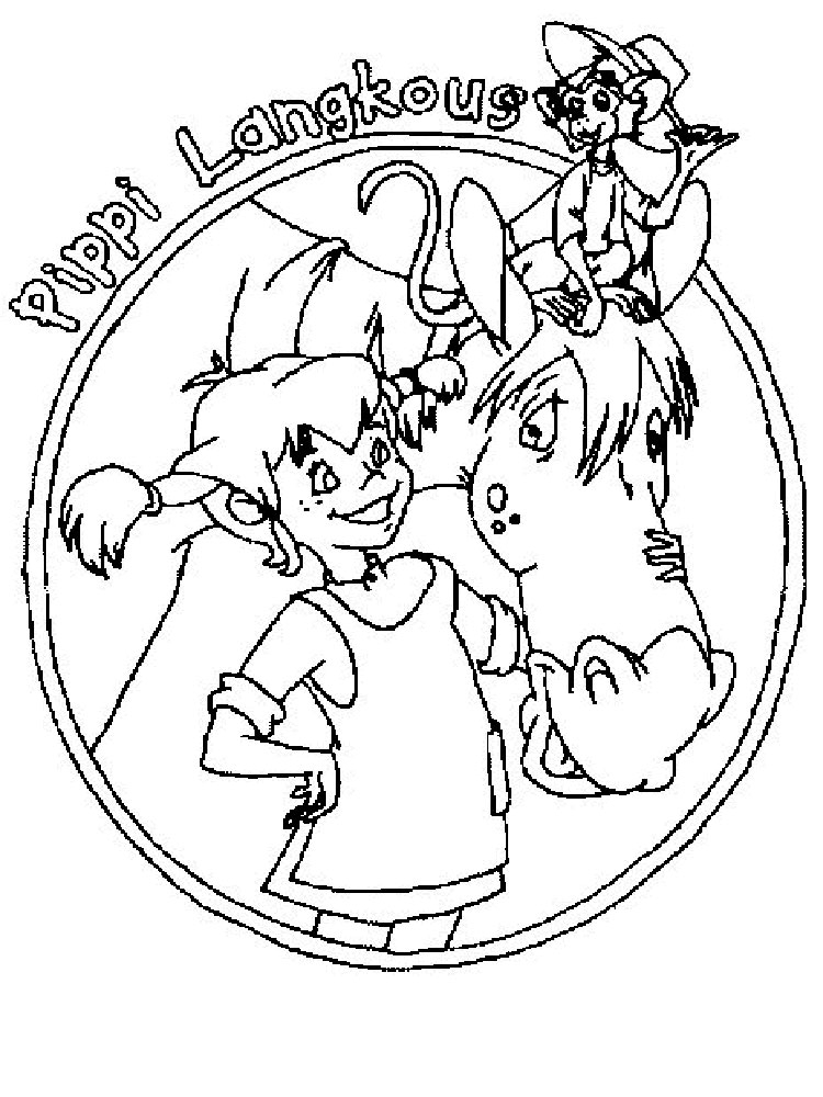 looney tunes coloring pages - pippi longstocking coloring pages