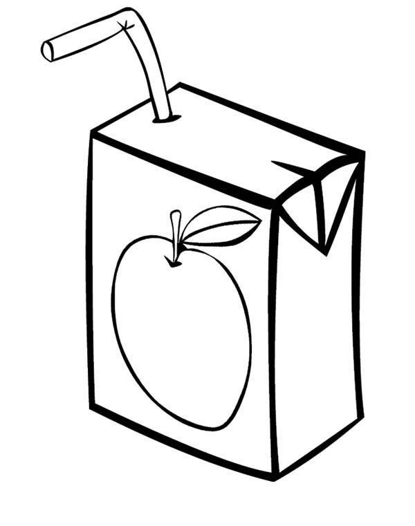 lorax coloring pages - juice box coloring page