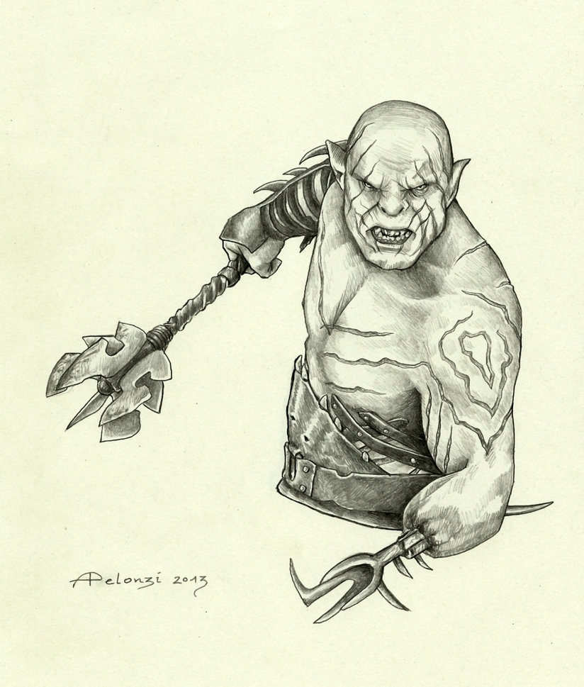 lord of the rings coloring pages - Azog