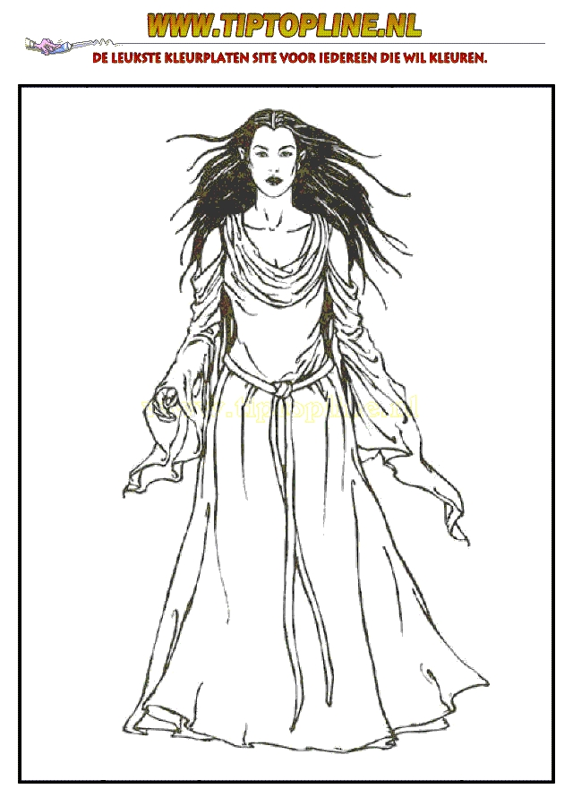 lord of the rings coloring pages - kleurplaat 006