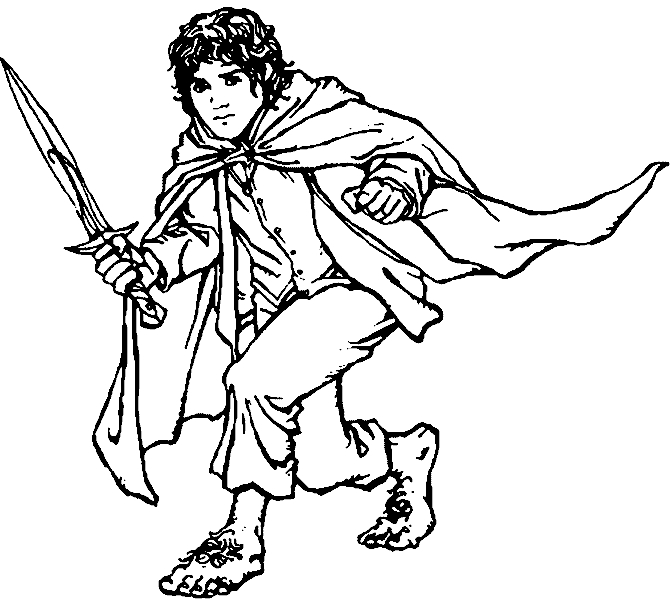 lord of the rings coloring pages - herr der ringe