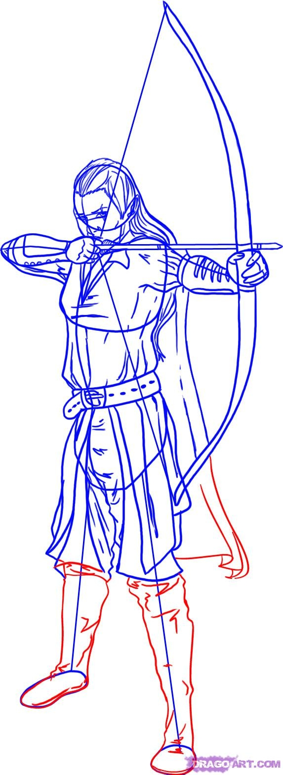 lord of the rings coloring pages - how to draw a lord of the rings elf