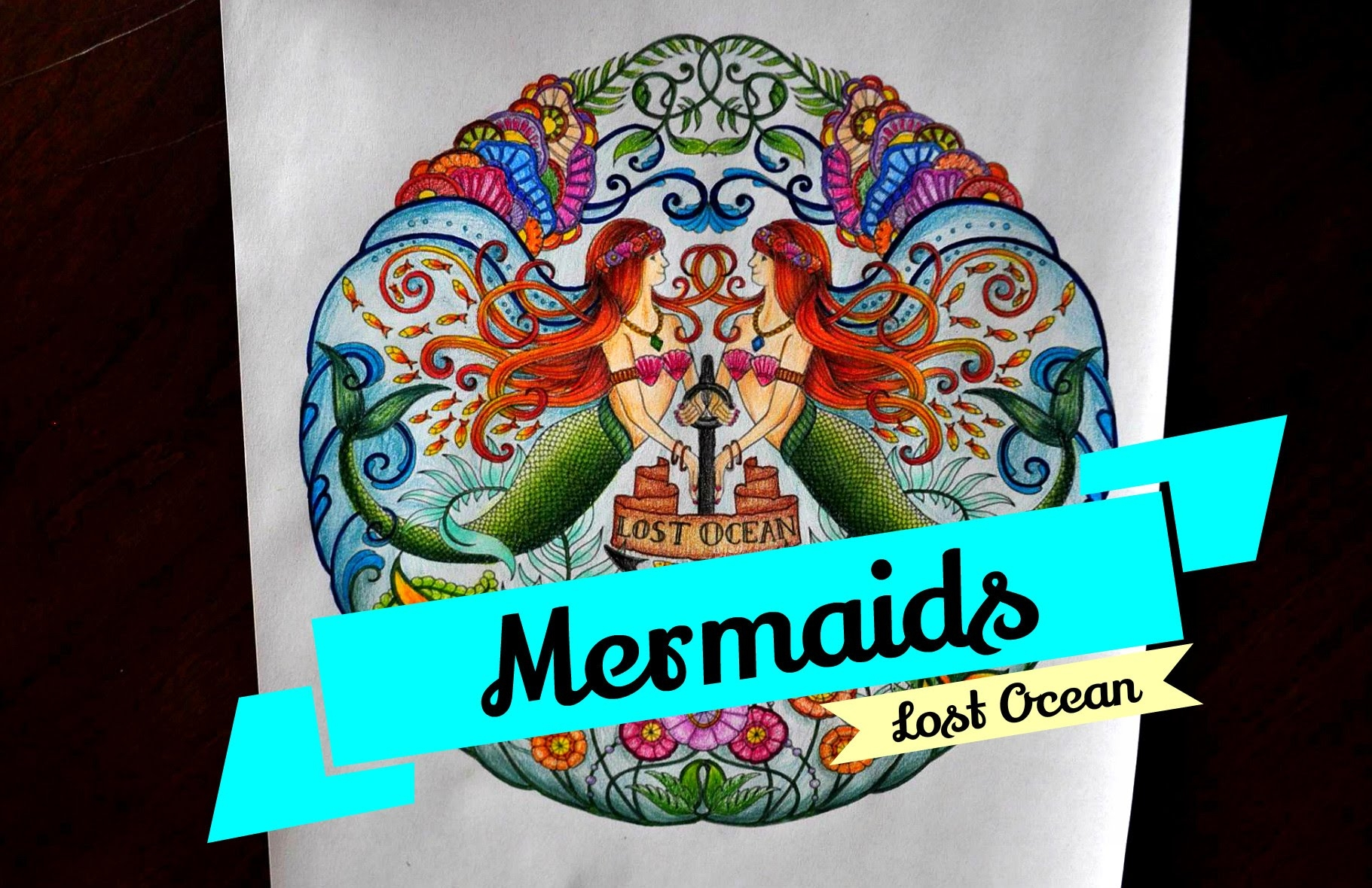 Lost Ocean Colored Pages - Lost Ocean Coloring Book Mermaids