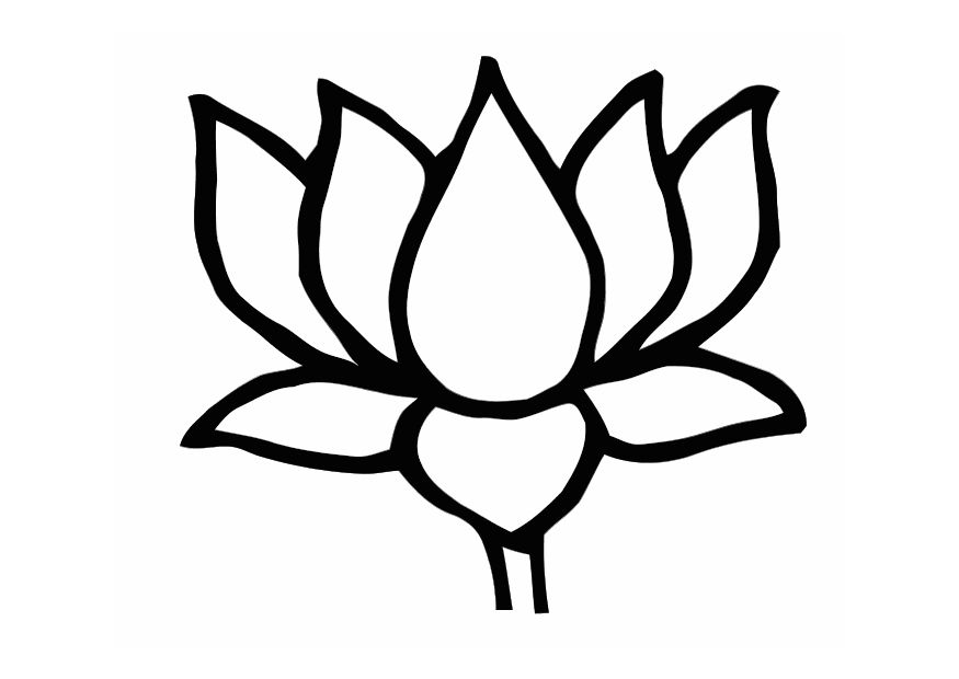 lotus flower coloring page - lotus flower coloring pages