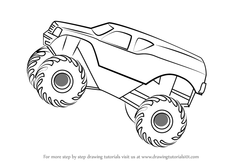 loud house coloring pages - how to draw monstertruck jump