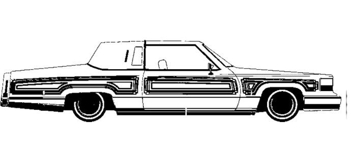 Lowrider Coloring Pages - Cadillac Lowrider Coloring Page