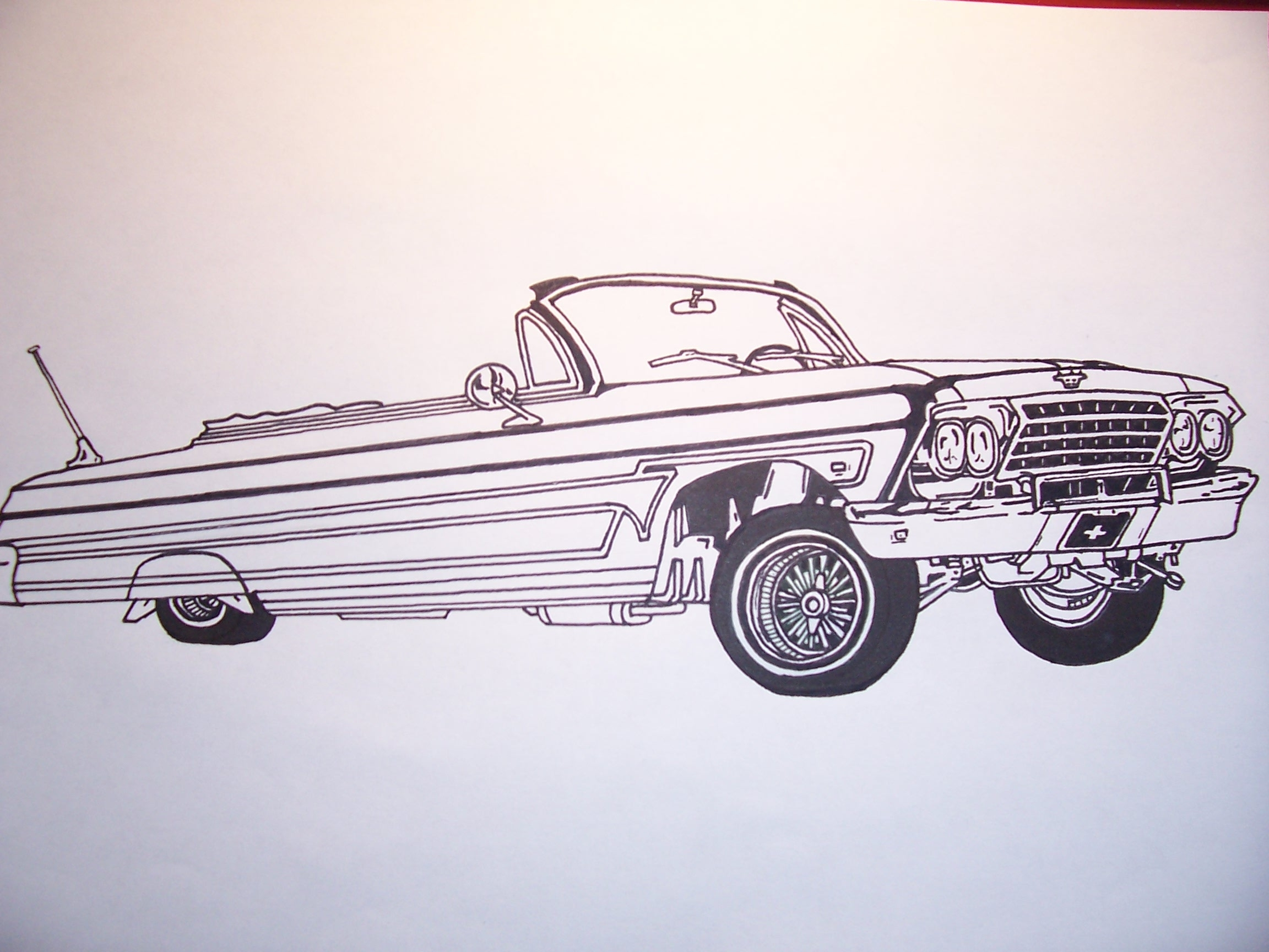 lowrider coloring pages - lowrider trucks drawingstml