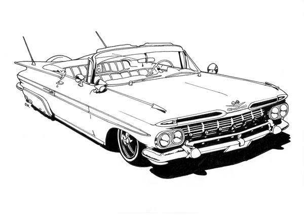 lowrider coloring pages - stuff a low rider coloring book