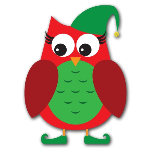 lps coloring pages - christmas owl clip art