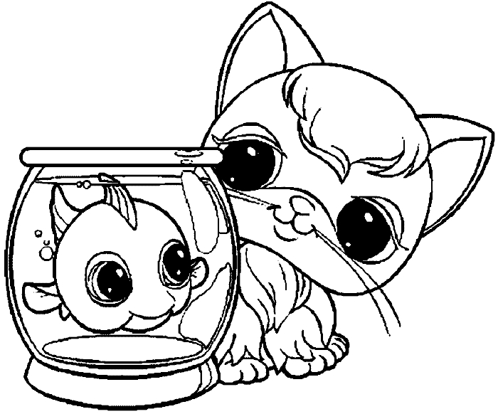 lps coloring pages - little pet shop