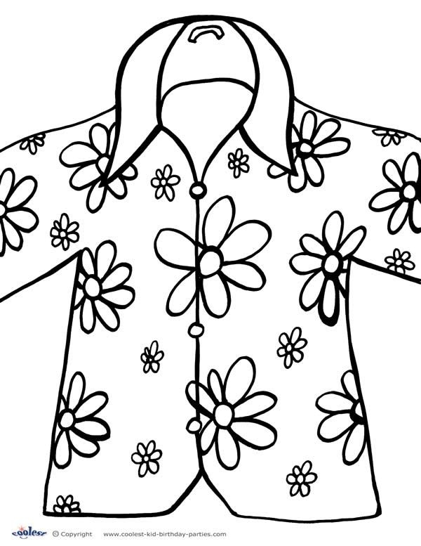 luau coloring pages - hawaii luau