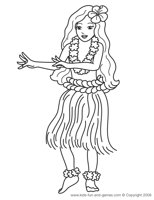 luau coloring pages - hawaiian coloring pages