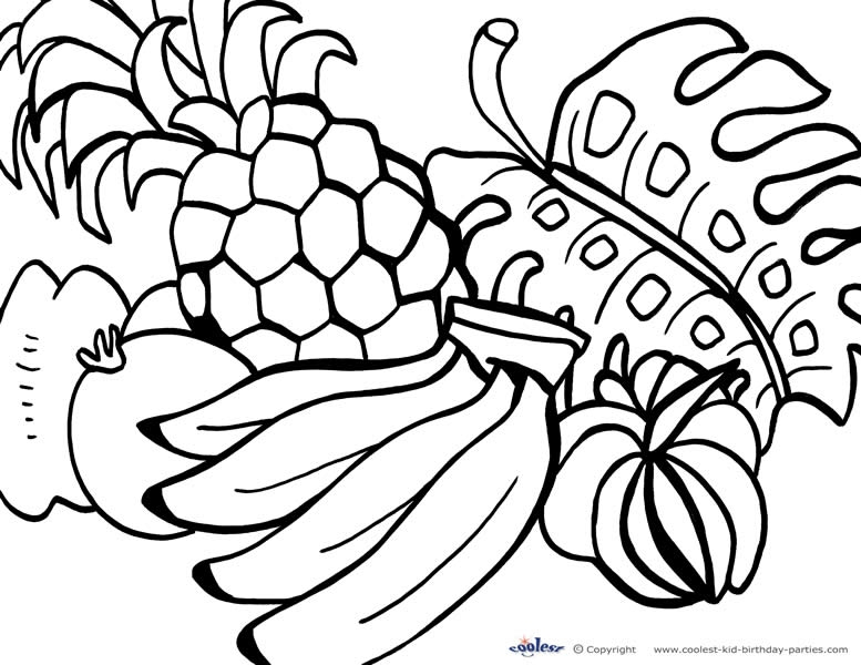 luau coloring pages - printable luau coloring page 1