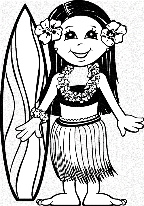 Luau Coloring Pages - Printable Luau Coloring Pages