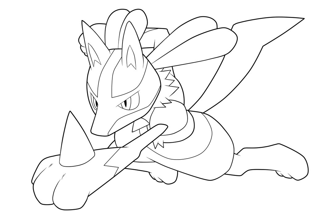 lucario coloring page - pokemon lucario coloring pages