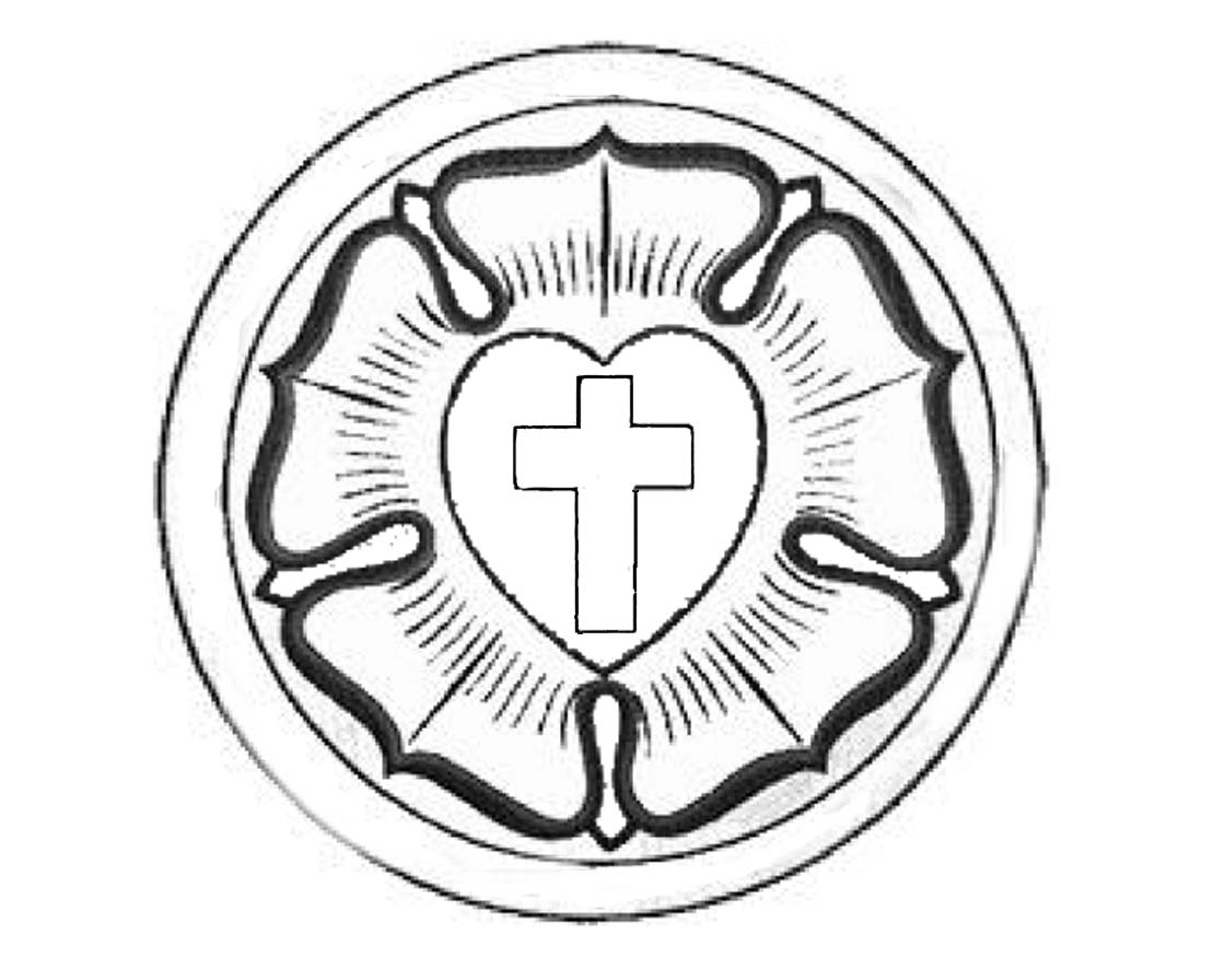 luther rose coloring page -