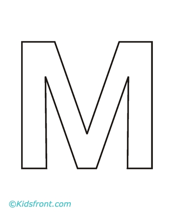 m coloring page - alphabet m bw 289 picture